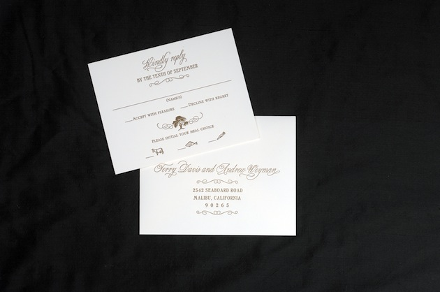 Brown Wedding Response Cards