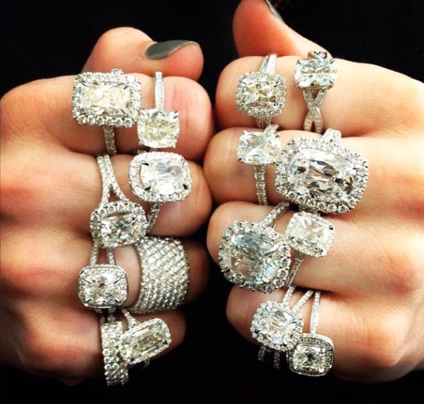 Stacks of Diamond Rings